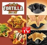 4 formy na tortily - PERFECT TORTILLA PAN SET
