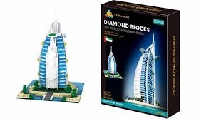 Diamond Blocks Stavebnice 1095 ks – BurjAl-Arab Hotel