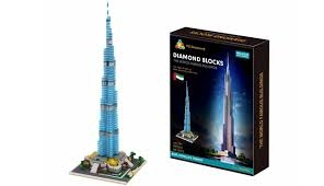 Diamond Blocks Stavebnice 1681 ks – Burj Khalifa Tower